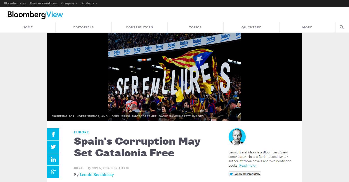 BloombergView-Catalunya9N-GobiernoSpain
