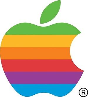 El logo de la manzana-arco iris de Apple