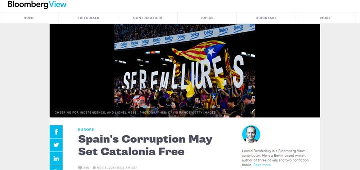 Spain's Corruption May Set Catalonia Free
