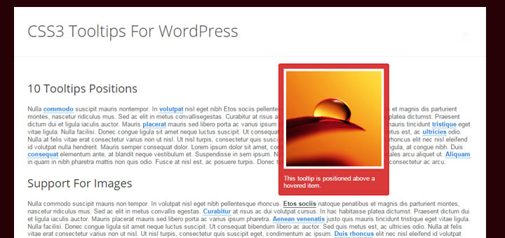 CSS3 Tooltips para Wordpress