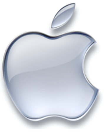 Logotipo plateado de Apple